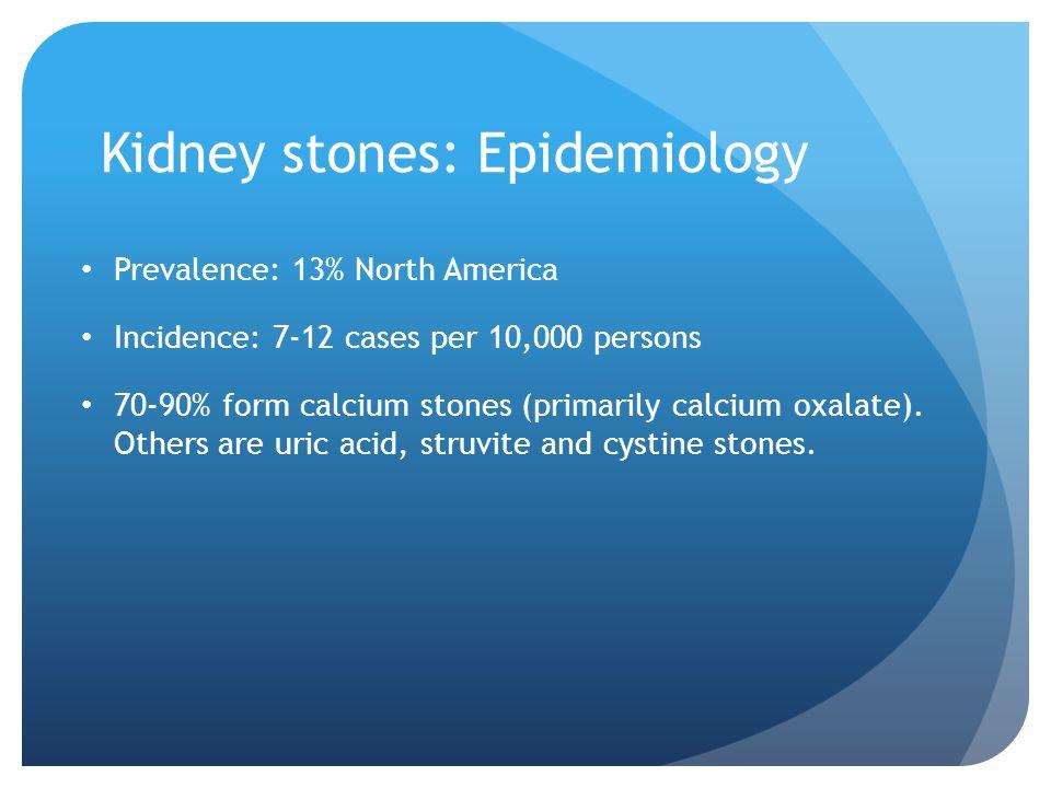 Kidney stones: Epidemiology