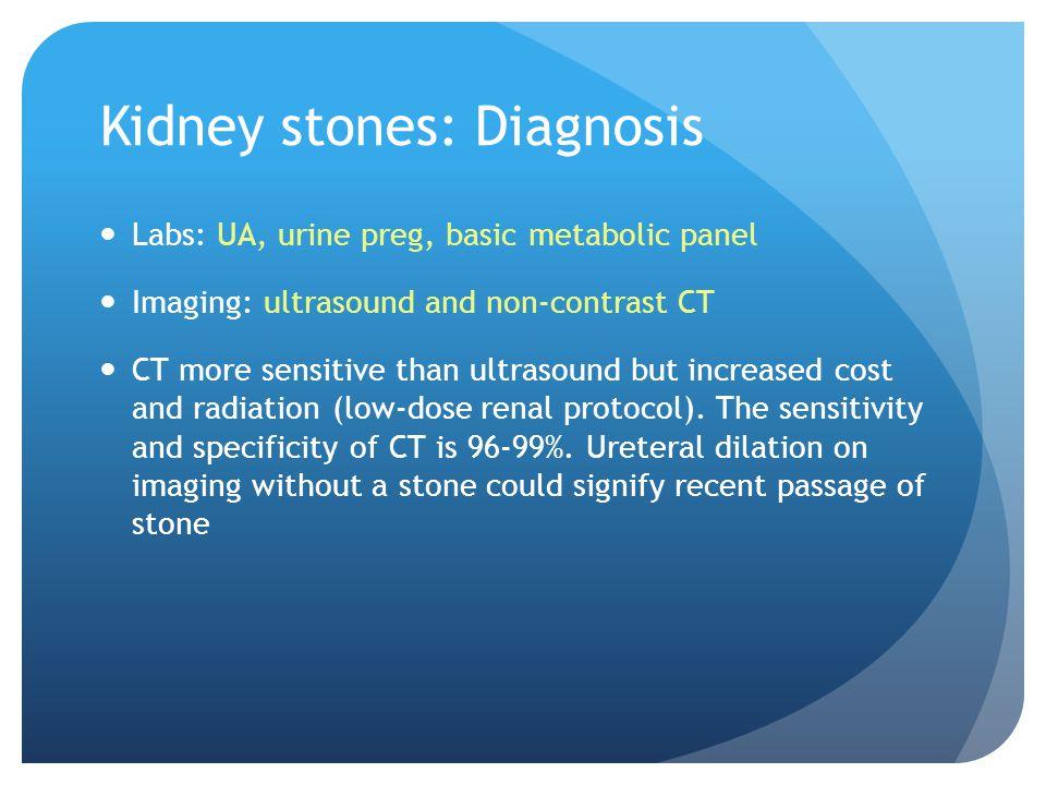 Kidney stones: Diagnosis