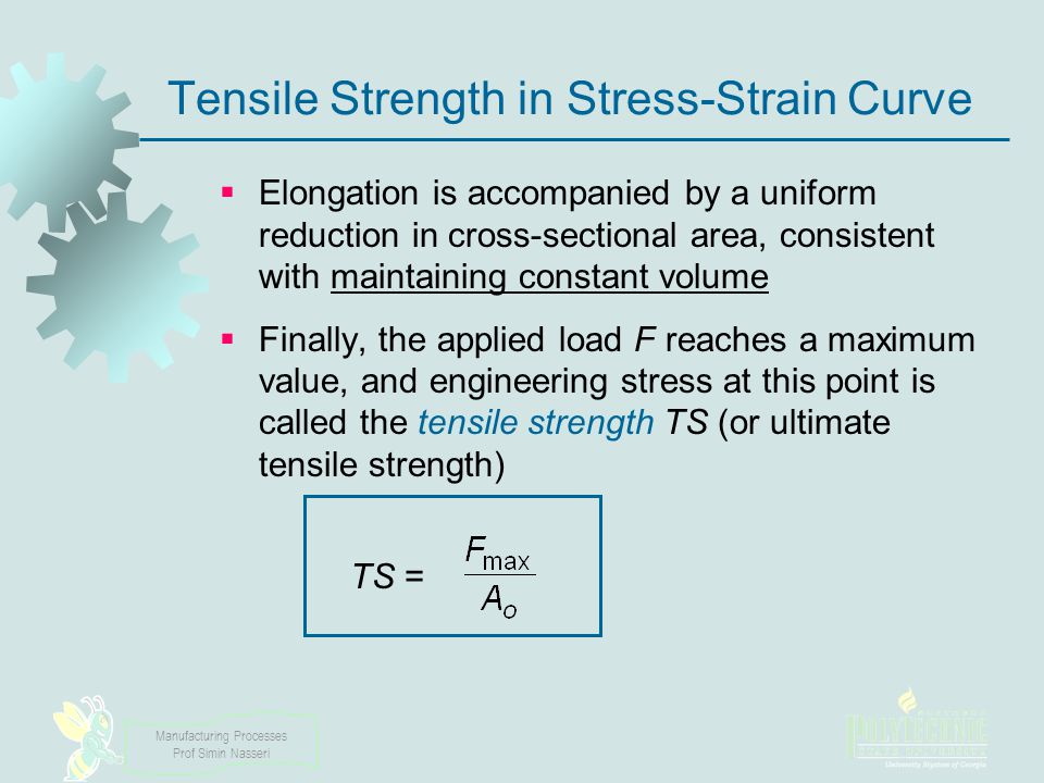 Tensile Strength in Stress‑Strain Curve