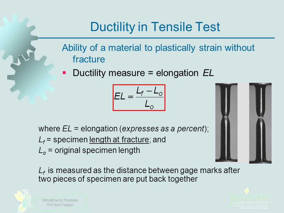 Ductility in Tensile Test