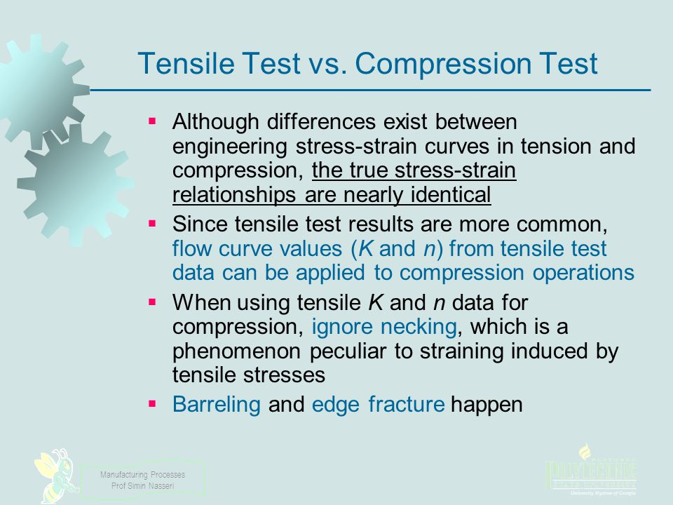 Tensile Test vs. Compression Test