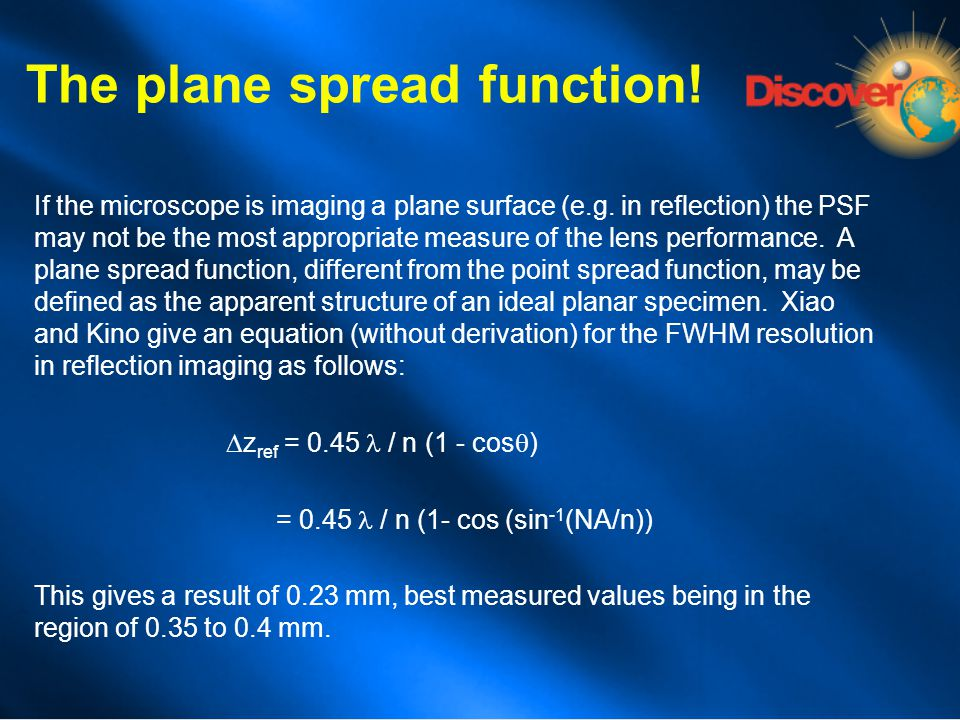 The plane spread function!