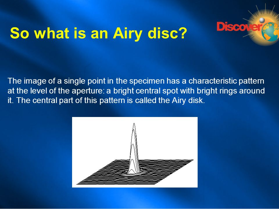 So what is an Airy disc