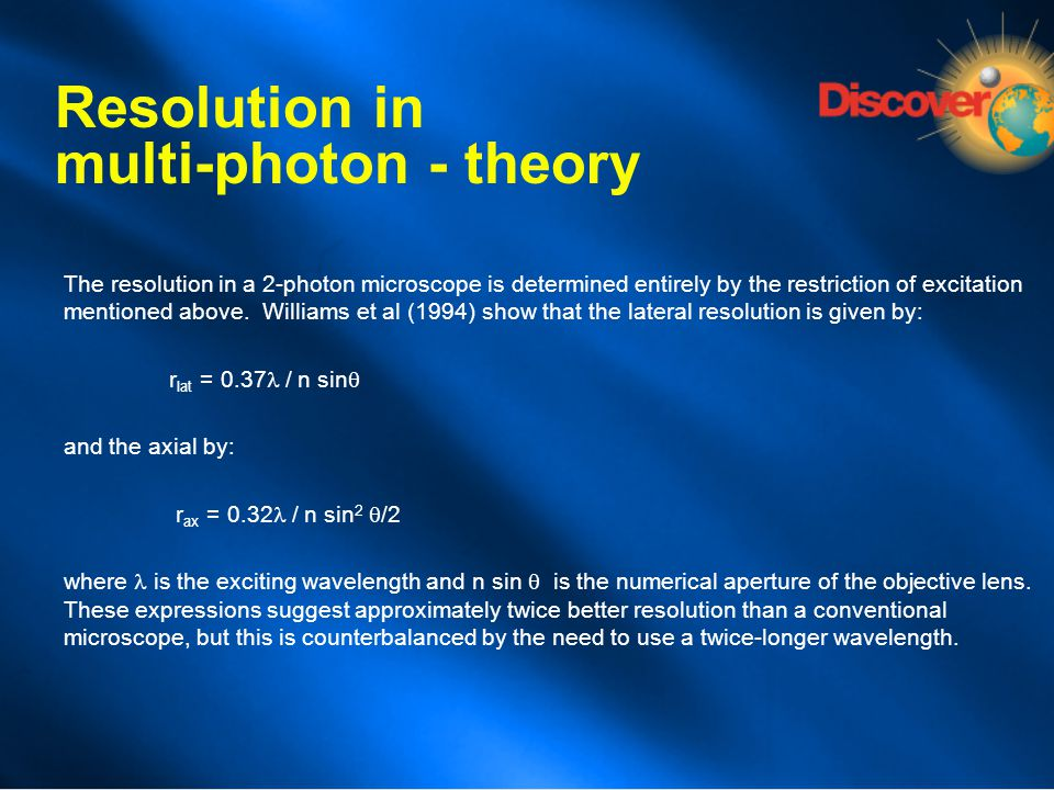 Resolution in multi-photon - theory