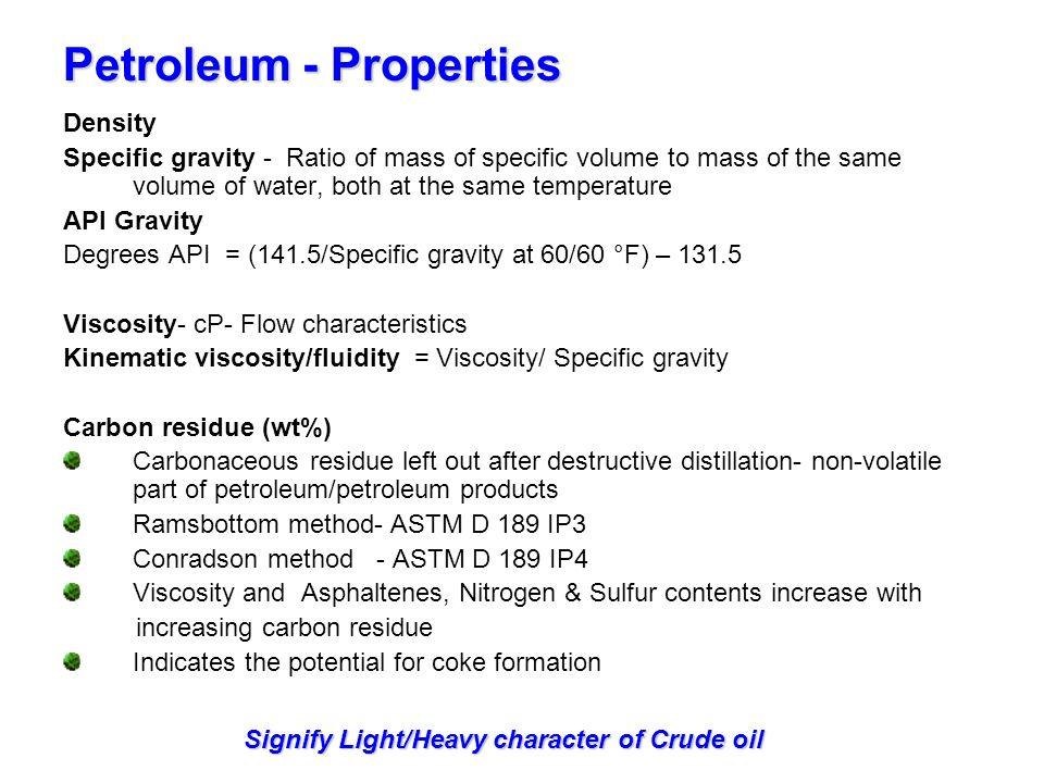 Petroleum - Properties