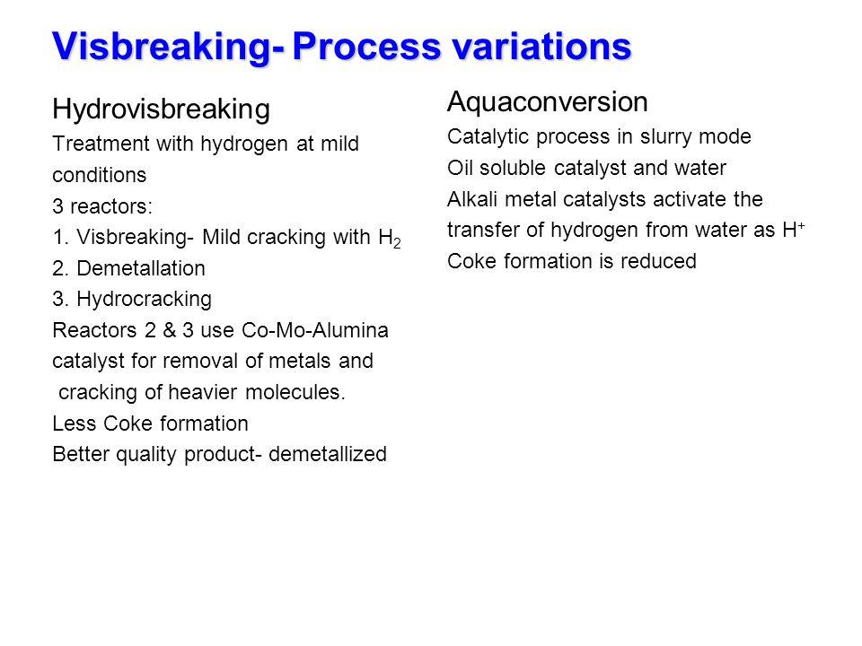 Visbreaking- Process variations