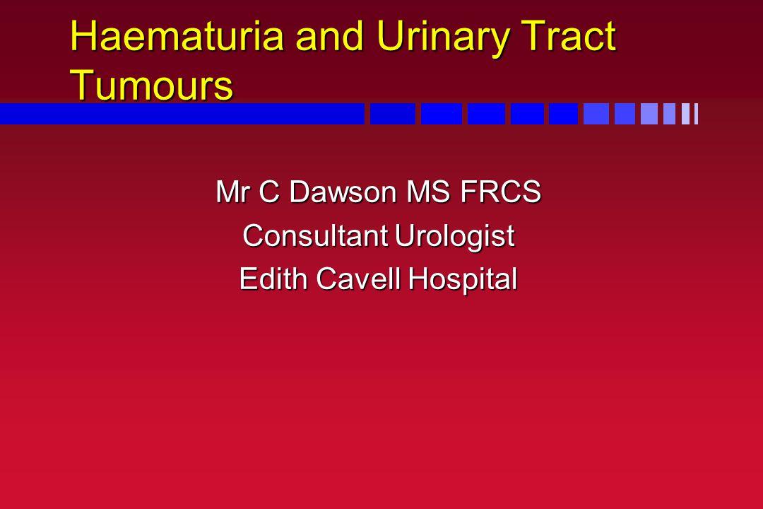 Haematuria and Urinary Tract Tumours