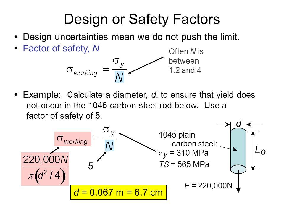 Design or Safety Factors
