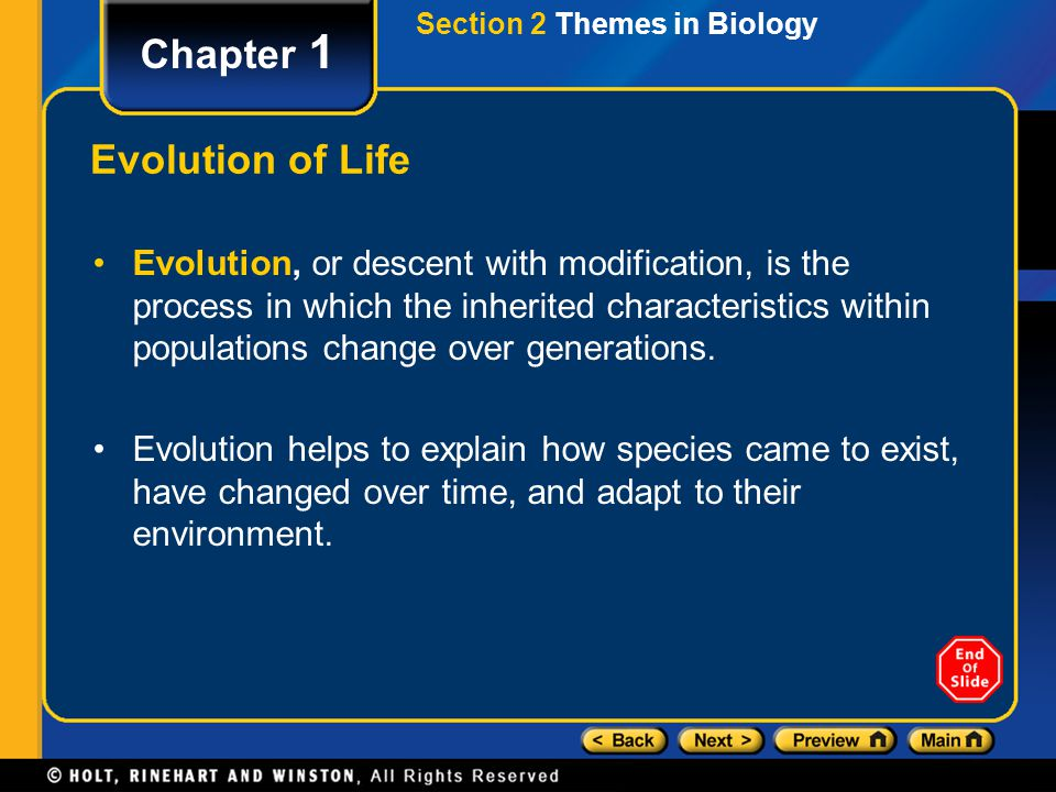 Chapter 1 Evolution of Life