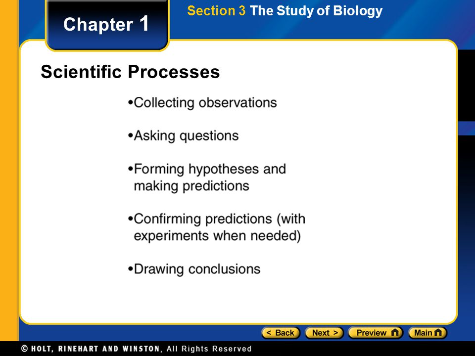 Section 3 The Study of Biology