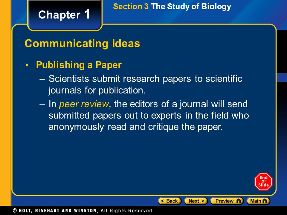 Chapter 1 Communicating Ideas Publishing a Paper