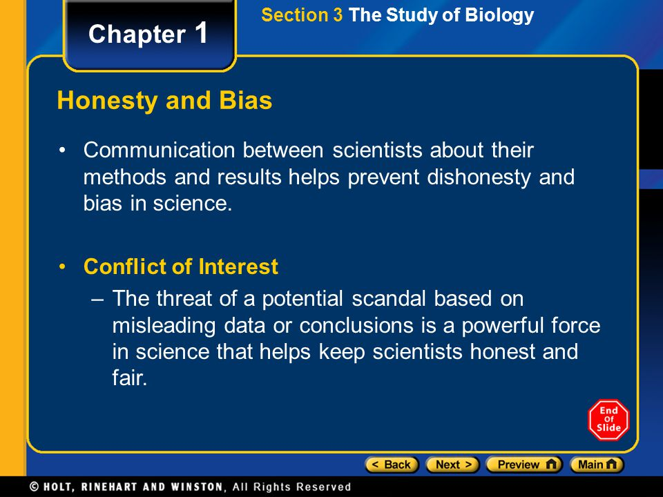 Chapter 1 Honesty and Bias