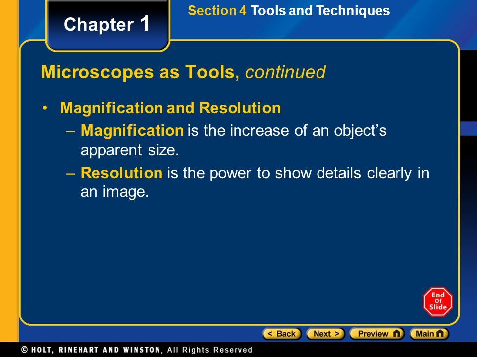 Microscopes as Tools, continued