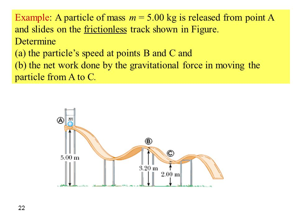 Example: A particle of mass m = 5