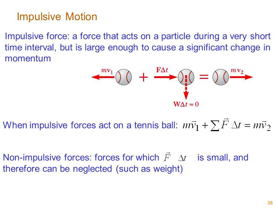 Impulsive Motion