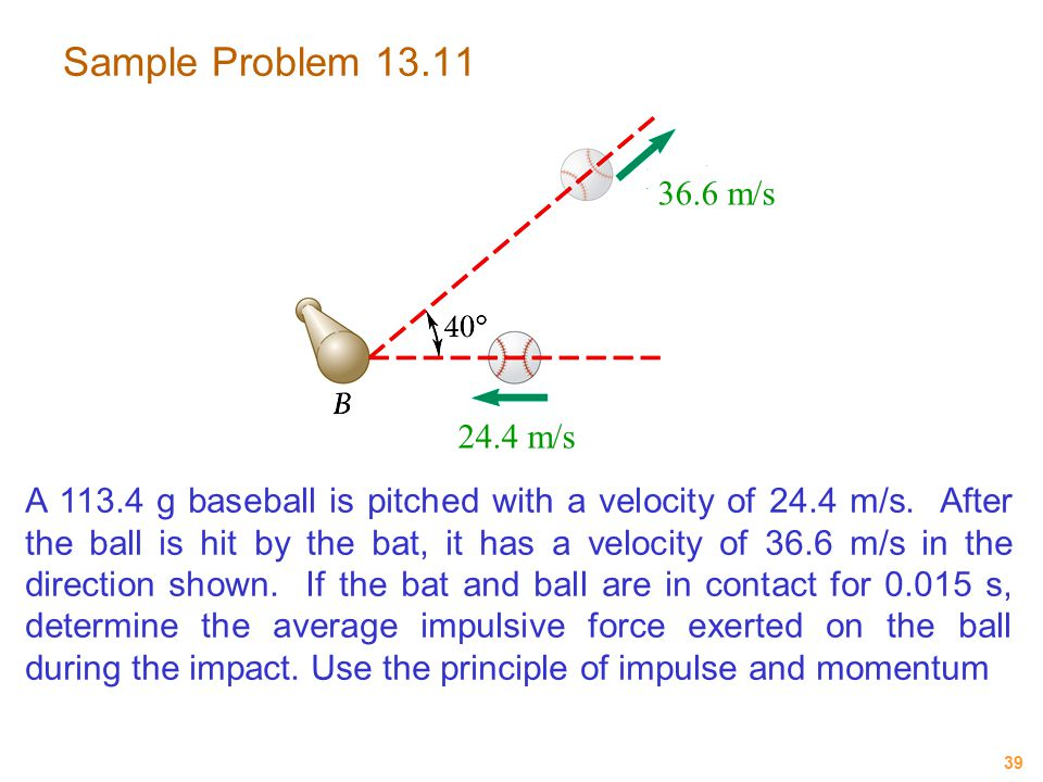 Sample Problem 13.11 36.6 m/s. 24.4 m/s.