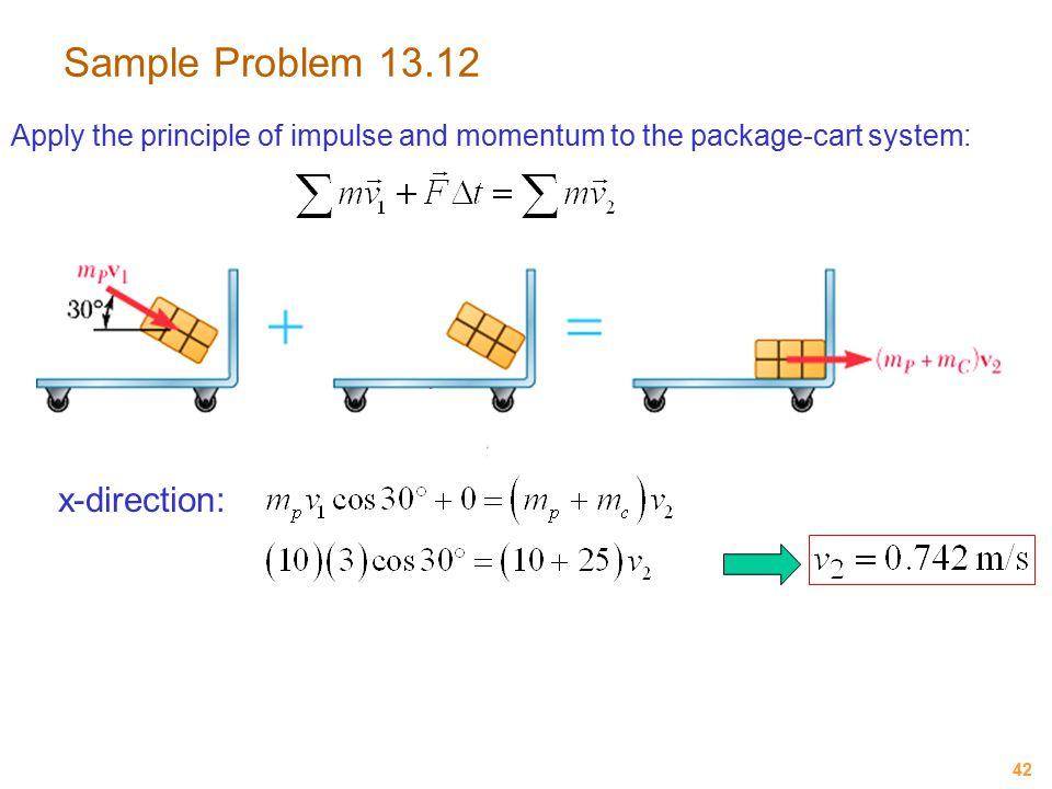 Sample Problem 13.12 x-direction: