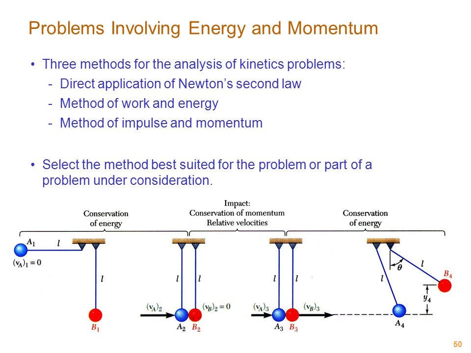 Problems Involving Energy and Momentum