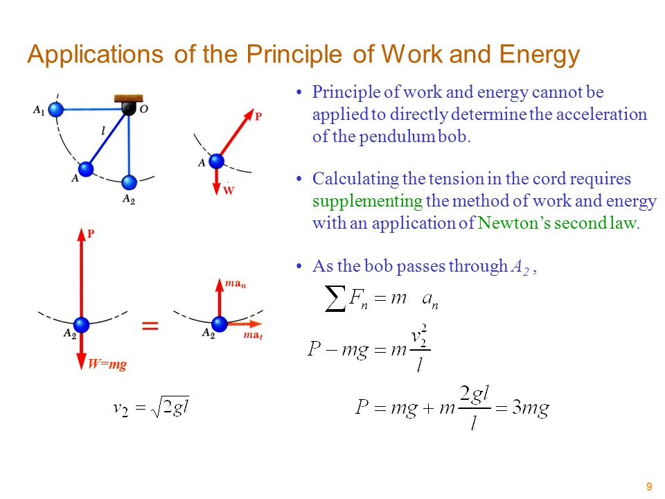 Applications of the Principle of Work and Energy