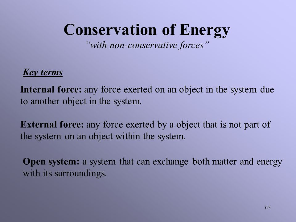 Conservation of Energy with non-conservative forces