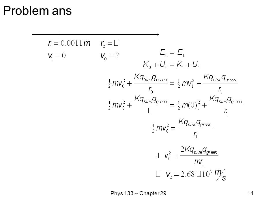 Problem ans Phys 133 -- Chapter 29
