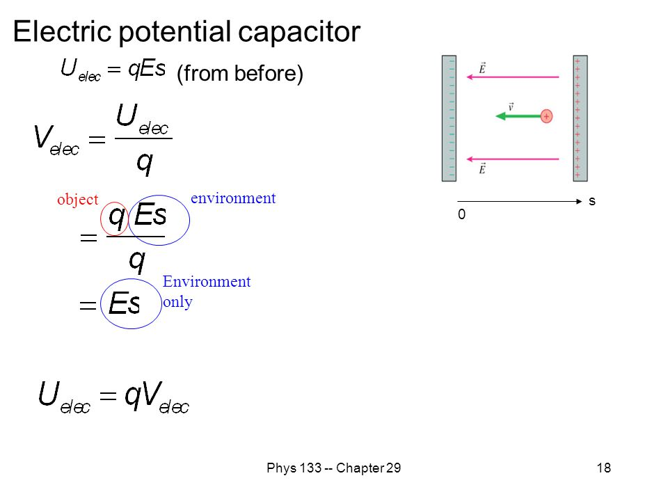 Electric potential capacitor