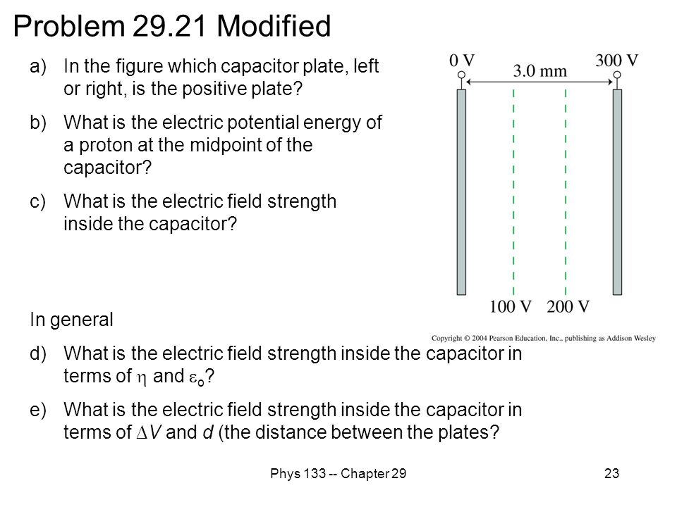 Problem 29.21 Modified In the figure which capacitor plate, left or right, is the positive plate