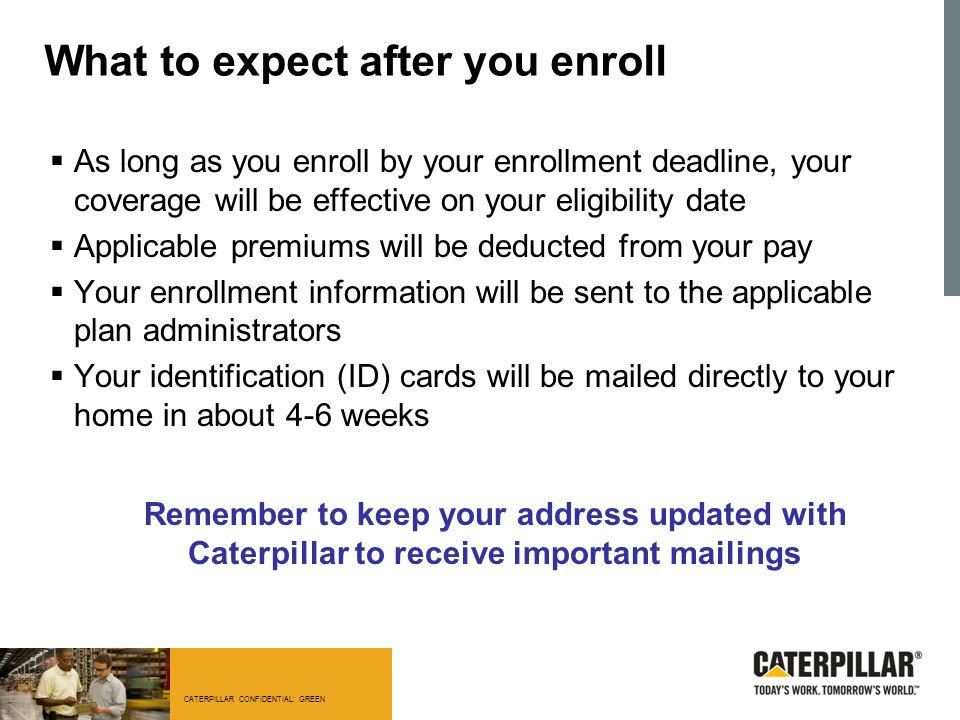 What to expect after you enroll