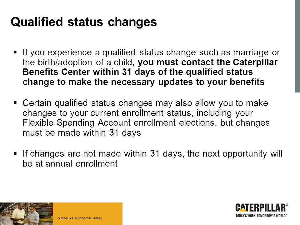 Qualified status changes