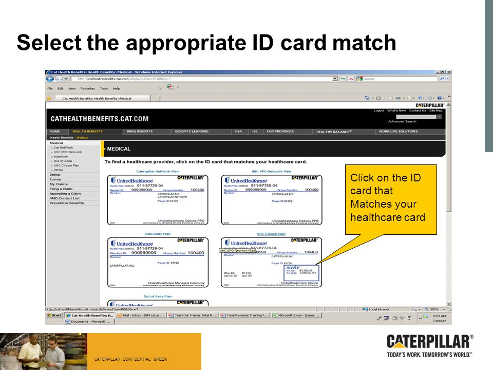 Select the appropriate ID card match