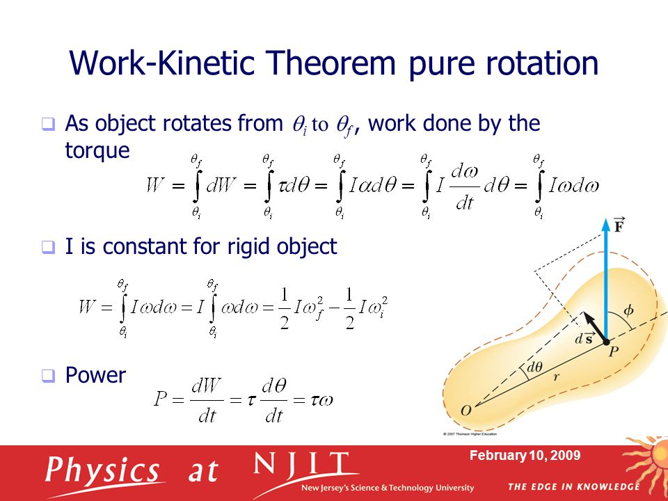 Work-Kinetic Theorem pure rotation