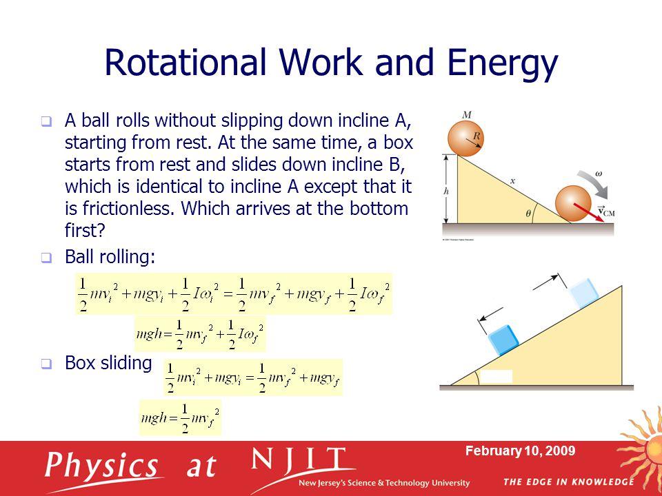 Rotational Work and Energy