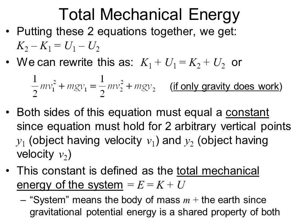Total Mechanical Energy