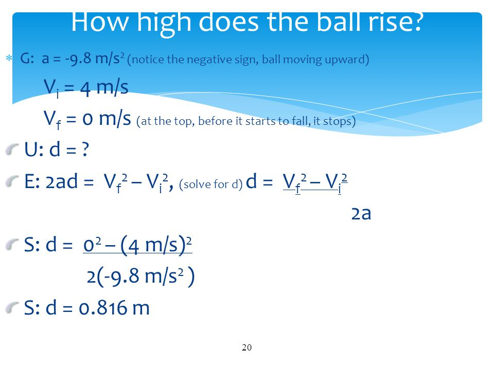 How high does the ball rise