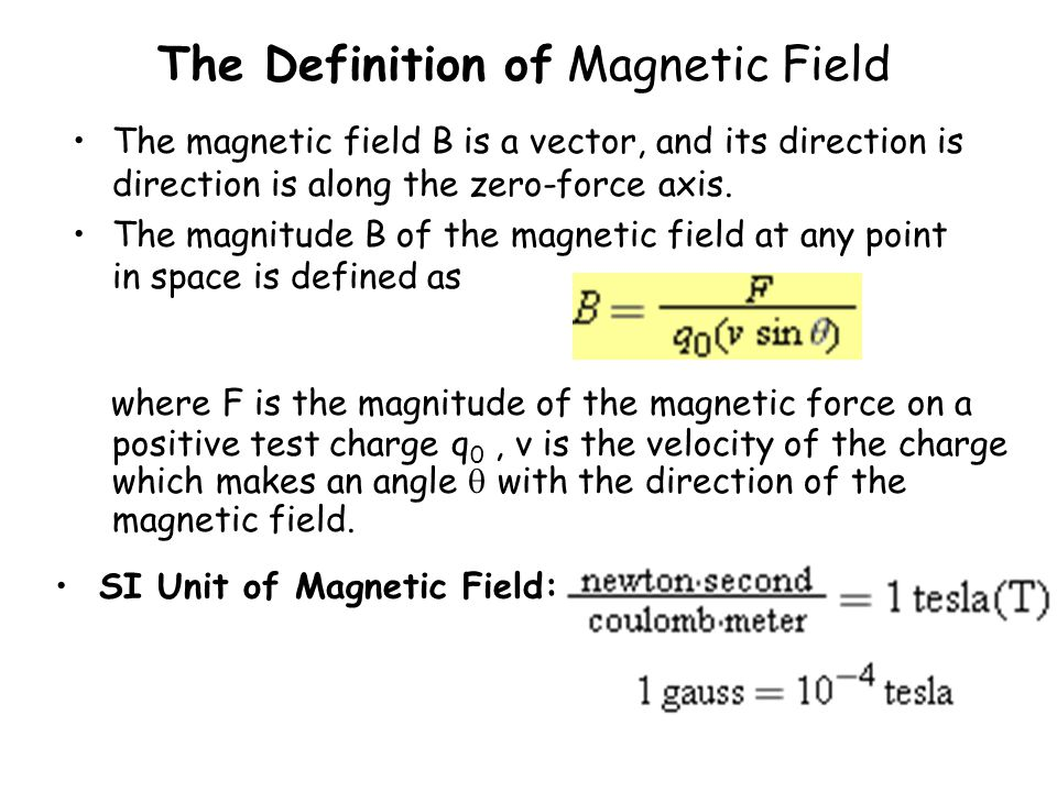 The Definition of Magnetic Field
