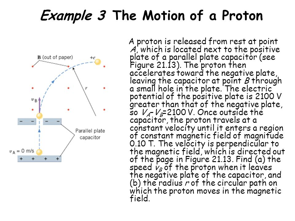 Example 3 The Motion of a Proton