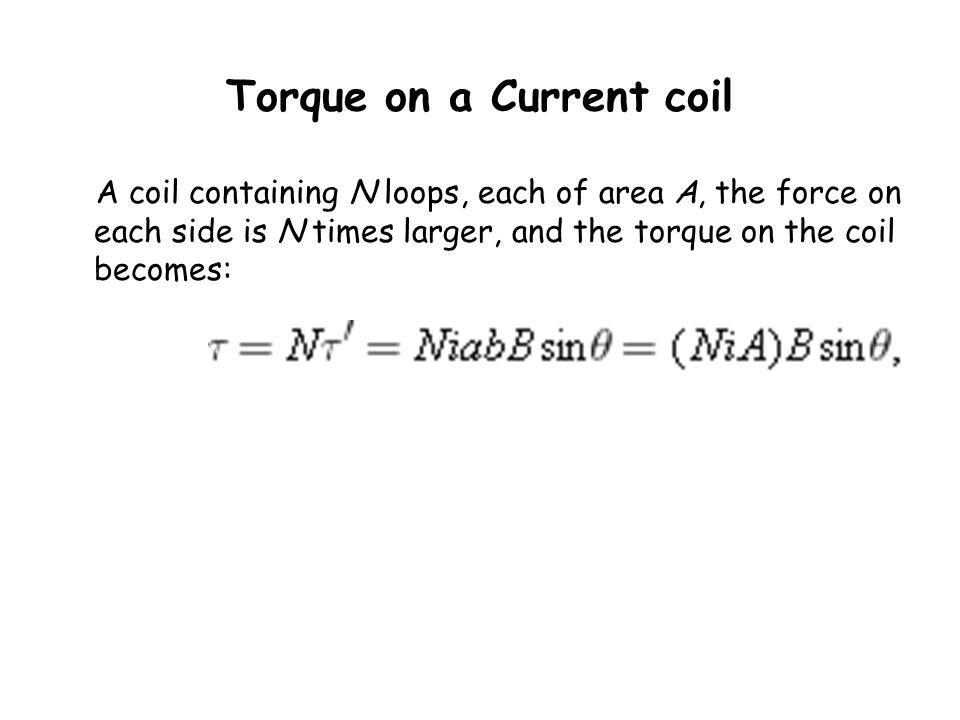 Torque on a Current coil