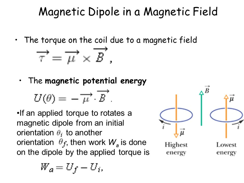 Magnetic Dipole in a Magnetic Field