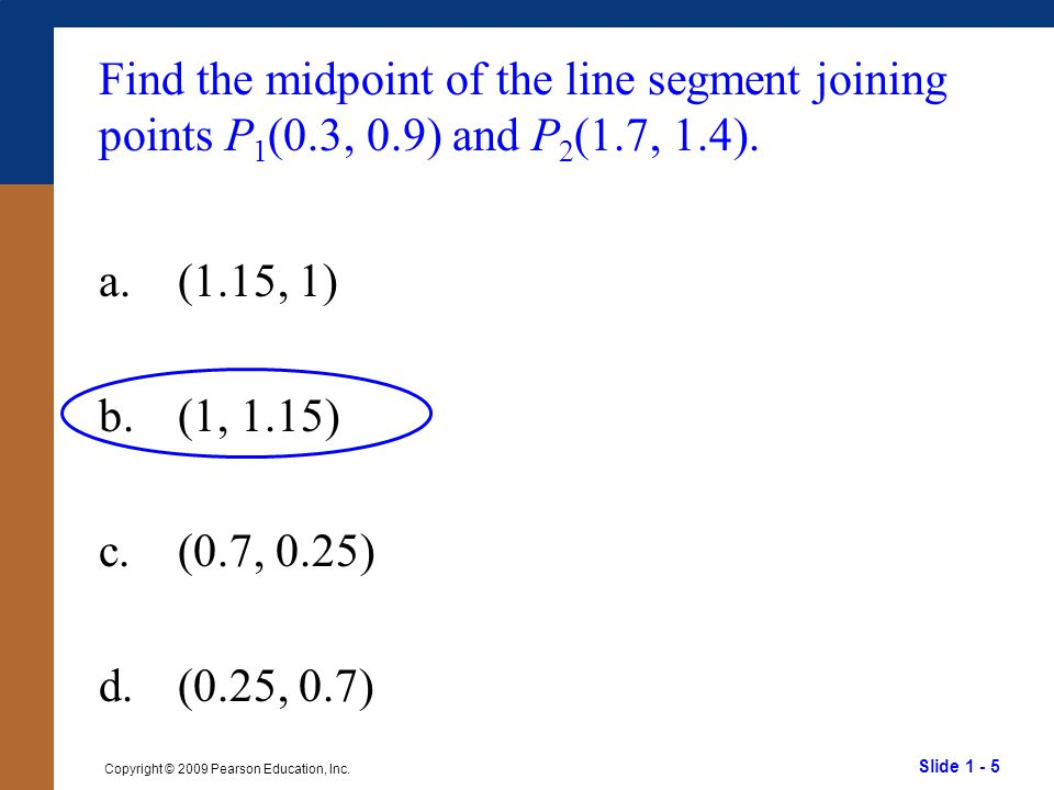 Find the midpoint of the line segment joining points P1(0. 3, 0