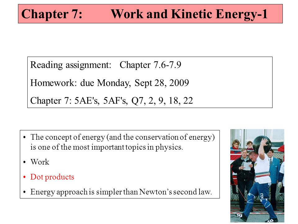 Chapter 7: Work and Kinetic Energy-1