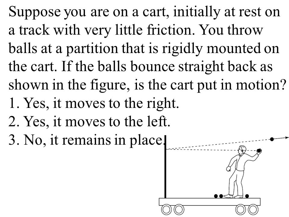 Suppose you are on a cart, initially at rest on