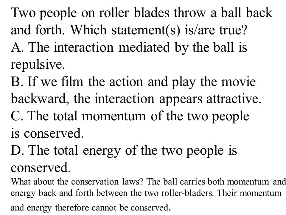 Two people on roller blades throw a ball back