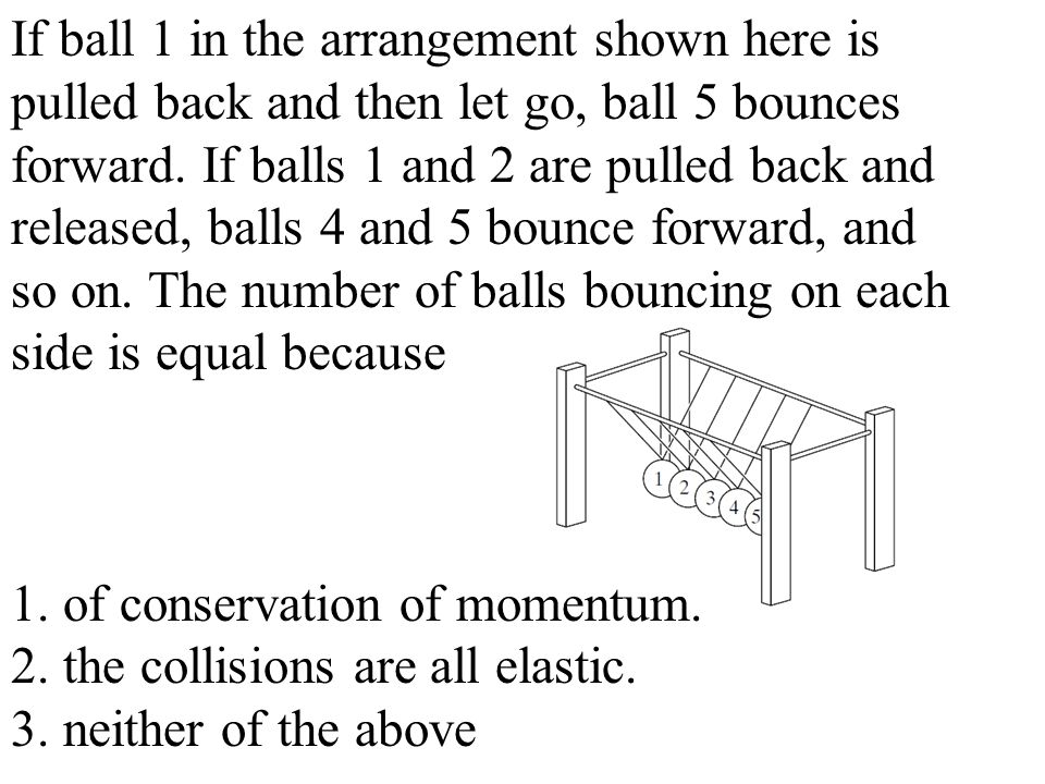 If ball 1 in the arrangement shown here is