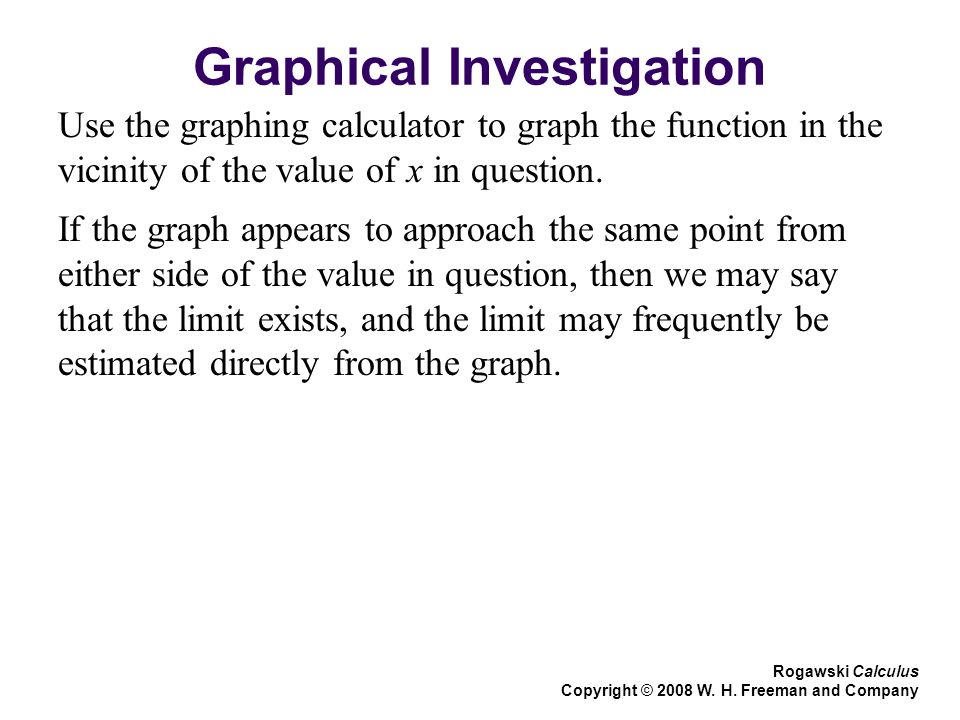 Graphical Investigation