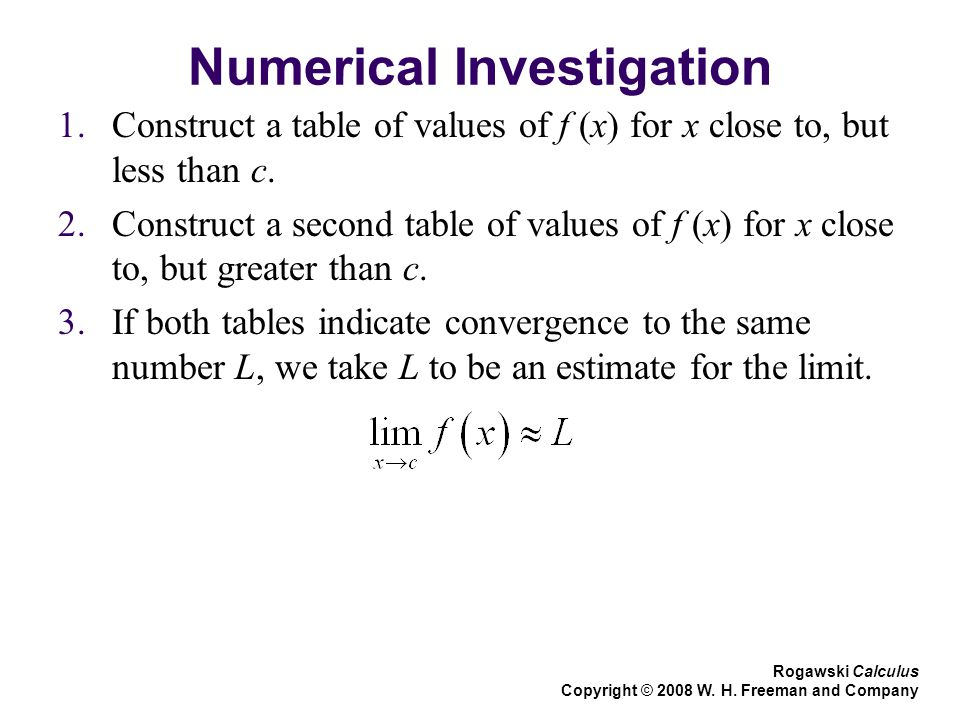 Numerical Investigation