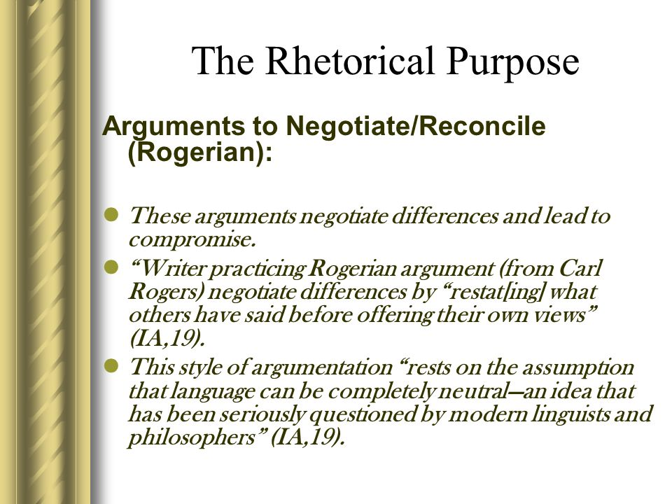 The Rhetorical Purpose