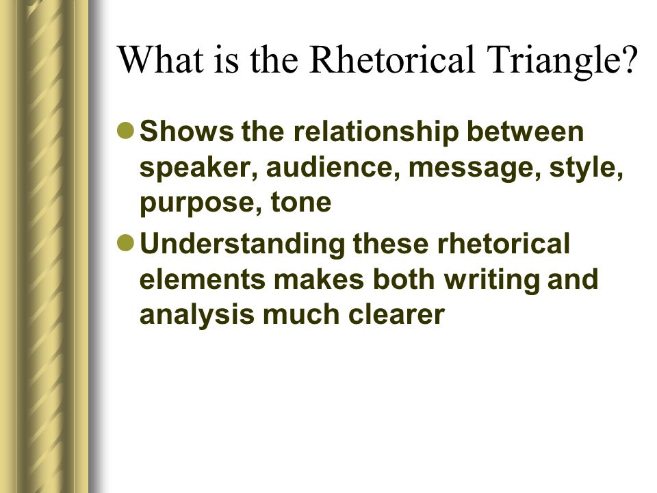 What is the Rhetorical Triangle