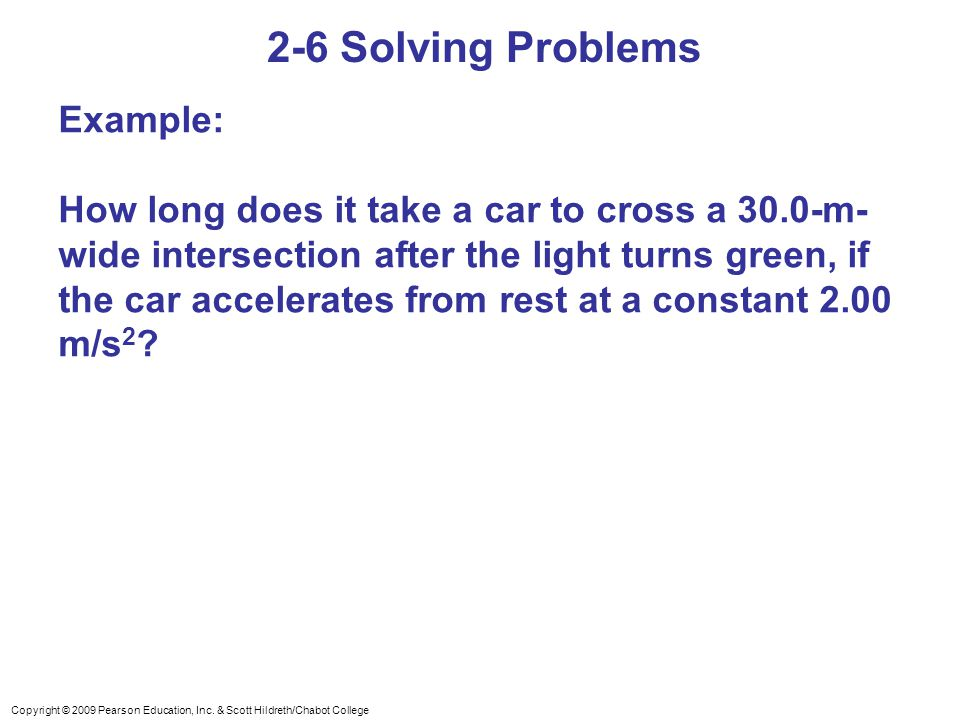 2-6 Solving Problems