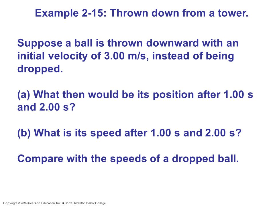 Example 2-15: Thrown down from a tower.