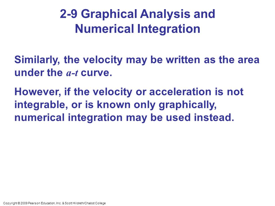 2-9 Graphical Analysis and Numerical Integration